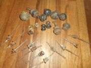 Antique Lot Reclaimed Victorian Wood Salvaged Drawer Dresser Handle Pulls Knobs