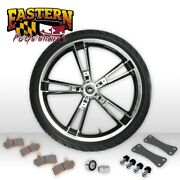 Enforcer Style Reinforcer Black Cut Front 21 Wheel Tire And Pads Harley 08-19 T