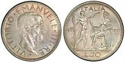 Italy 2o-lire 1927-r A.vi Km-69 Pcgs Uncirculated Condition Cleaned