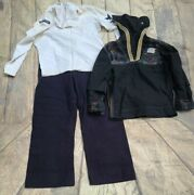 Vintage 1950and039s Post Wwii Usn Navy Embroidered Uniform