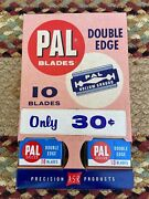 Vintage Pal Razor Display With Product - Store Dispenser - Shaving Shave