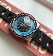 Vintage Seiko 5 Rally Diver Arabic Automatic Multi-color Oversized Steel Watch