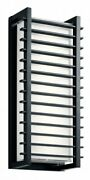 20.75 Inch 100w 2 Led Large Outdoor Wall Sconce Black Finish With White Glass -