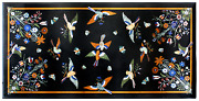 30 X 60 Inches Marble Coffee Table Top Inlay Floral Design Center Table For Home