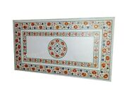 30 X 60 Inches Marble Coffee Table Top Marquetry Art Luxurious Look Center Table