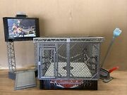 Wwe Steel Cage Ring Raw For Wrestling Figures And Accessories Lot