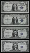 Rare Wide/narrow Changeovers 1 1935d Unc Silver Certificates L34035305g-08g