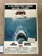 Rare Steven Spielberg Jaws 12x18 Signed Autograph Beckett Bas Authenticated
