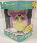 Vintage 1999 Furby Babies Purple Yellow And White Fur 70-940