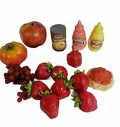 Realistic Food Pretend Play Vintage 80s 90s Fruits Cans Lot Of 16 Fruit 🍓🍓