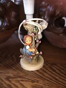 Hummel Figurine Lamp 229. Apple Tree Girl Excellent Condition  Works