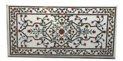 24 X 48 Inches Marble Coffee Table Top Marquetry Art Luxurious Look Island Table