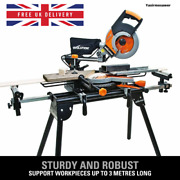 Brand New Evolution Mitre Saw Stand Workstation Table Universal Chop With Arms