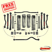 Lift Kit Suspension 4 Front And 3.5 Rear Lift For Jeep Wrangler 4wd 07-18 Rancho
