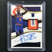 2019-20 Immaculate Rj Barrett Rookie Patch Auto Red Acetate 24/25