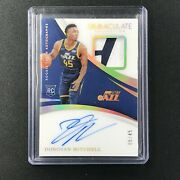 2017-18 Immaculate Donovan Mitchell Rookie Patch Auto Acetate 5/45