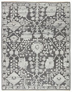 Jaipur Living Riona Hand-knotted Floral Gray/ White Area Rug 9and039x12and039