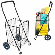 Mount-it Small Rolling Utility Shopping Cart
