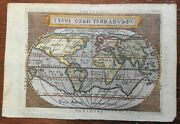 World Map Distorted North America Huge Southern Continent 1655 Ortelius Rare Map