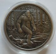 Bigfoot1 Ozantiquedhigh Relief.999fine Silver Air-titefree Shipping