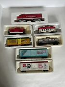 Lot 7 Campbell Soup Ho Scale Electric Freight Train Locomotive, Caboose, Boxcars