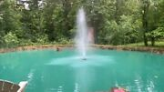 Floating Pond Fountain 3/4 Hp 6360 Gph With 100and039 Power Cord 120 Volt And Timer