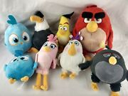 8 Angry Birds Movie 2016 Mighty Eagle Chuck Hatchling Matilda Plush Doll Lot D5