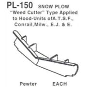Details West 150 - Snow Plow Weed-cutter Type Several Raods  - Ho Scale
