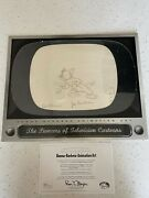 Tom And Jerry 1954 Original Production Drawing Cel Art Signed By Hanna Barbera