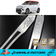 2pcs Door Plate Cover Panel Step Scuff Protector Silver For Kia Soul 2020-2021