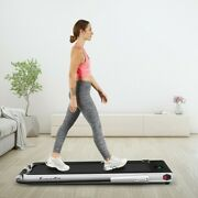 Folding Treadmill Compact 2-in-1 W/ Remote Control Bluetooth Speaker Led Display