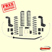 Suspension 4 Lift Kit For 2007-10 Jeep Wrangler Unlimited X Rwd Rancho