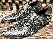 Chelsy Army Camouflage Leather Menand039s Shoes Designer Slippers Handmade 42