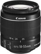 Used Canon Ef-s18-55mm F3.5-.5.6 Is Ii Standard Zoom Lens