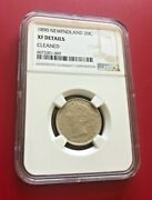 1890 Newfndland 20 Cents Ngc Xf Details Cleaned Canada