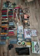 Vintage 1970and039s Ho Train Set Engines Cabooses Cars Tracks Power Supplies Lot