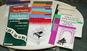 Various Piano Lesson Books, Lessons, Technic, Chords And Jazz