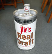 Vintage 1960's Piels Real Draft Beer Aluminum Can Ashtray With Display Can