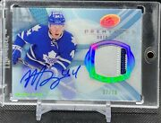 2013-14 Upper Deck Ice Premiers Rookie Patch Auto /10 Morgan Rielly