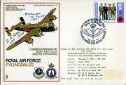 Ww2 Raf 158 Squadron Halifax Bomber Two Crew Signed Cover - Uacc Dealer