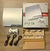 Sony Ps3 Playstation 3 320gb Cech-2500b Ss Satin Silver Console Japan Used Boxed