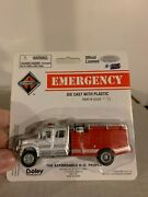 Boley 2059-71 International Crew Cab Brush Fire Truck White And Red H.o. 1/87