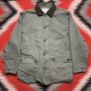 Orvis Quilted Lined Barn Coat Jacket Size Mens Large Olive Fishing Chore