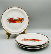 Designed For D H Holmes 9 3/8 Luncheon Plates Crab Made In Japan Set Of 4