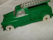 Vintage Made In Usa Toy 7 Auburn Telephone Co Rubber Ladder Truck
