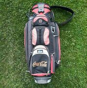 Rare Vintage Coca Cola Golf Bag And Rain Cover Coke Carry Red 14 Way Red Datrek