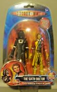 Doctor Who Sixth Doctor W/ Stealth Cyberman Signed Autograph Colin Baker Bnip