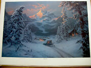 Jesse Barnes Print Journey's End Limited Ed. Signed And Numbered Sleeve 1988