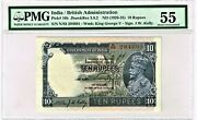 Inde 10 Rupees Nd 1928-35 Pick 16b Jhun3.8.2 Pmg About Hors-circulation 55
