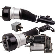 3pc Front Air Suspension Electronic Strut And Pump Fit Mercedes S-class W221 07-12